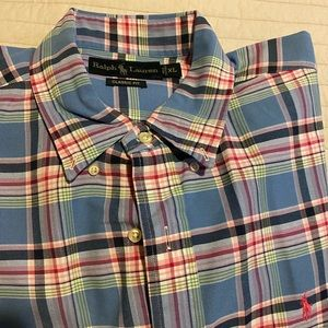 Polo by Ralph Lauren pink blue plaid